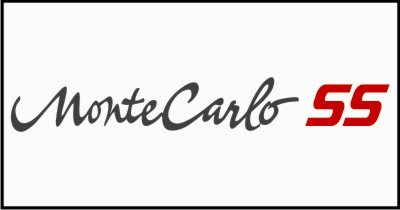 Monte Carlo SS #3 Windshield Decal