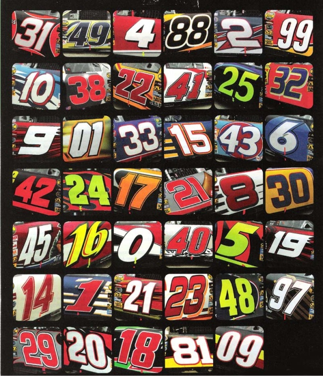 1-color Race Car Number Package - 21st Century Sound and