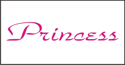 Princess Windshield Decal