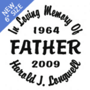 FATHER - Designer Series Circle Memorial Decal