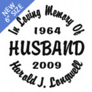 Husband - Designer Series Circle Memorial Decal