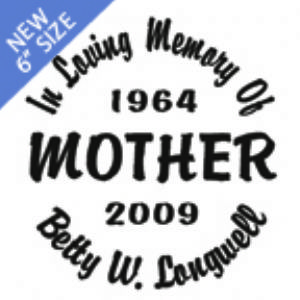 MOTHER - Designer Series Circle Memorial Decal