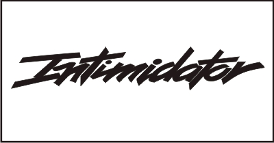 Intimidator #2 Windshield Decal