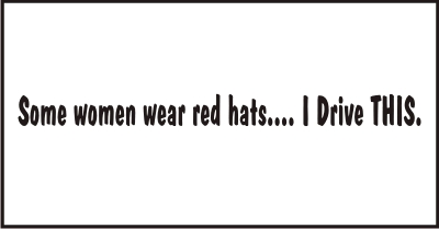 Red Hats Windshield Decal