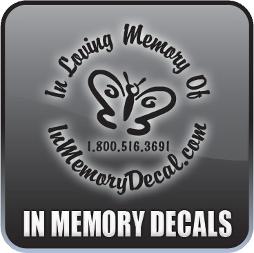 The original In Memory Decal custom designed just for you.