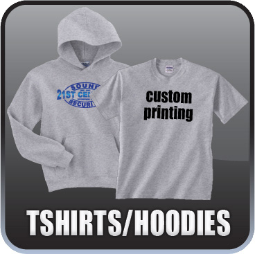 We design and print all kinds of apparel including T-shirts, Hoodies, and Golf Shirts.