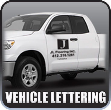 Auto Decals and Commercial vehicle vinyl die-cut lettering Designed, Cut, and Installed.