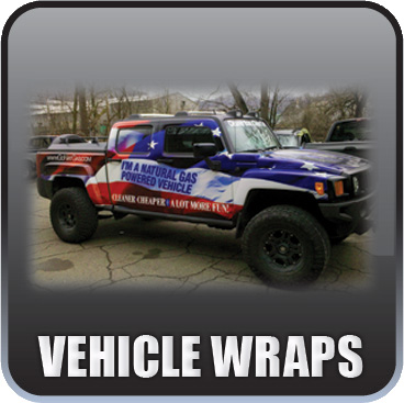 We can put a vehicle wrap onto any vehicle you own! Makes a bold statement and provides great visibility for your company.