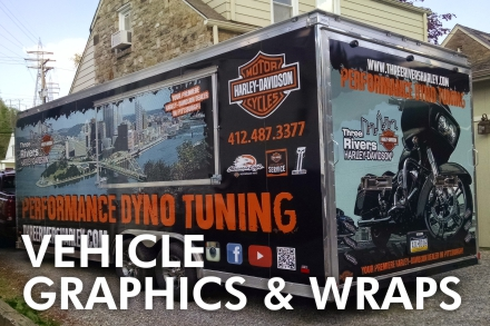 Custom vinyl vehicle wraps and graphics, full design team, we install.